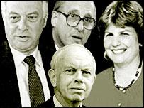 Chris Patten, Lord Bingham, Sandi Toksvig and Lord Neill