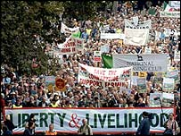 Countryside Alliance march, 2002