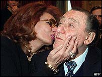 Sophia Loren and Alberto Sordi