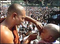Head shaving as part of religious conversion in Tamil Nadu