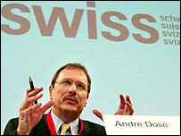 Swissair chief executive Andre Dose