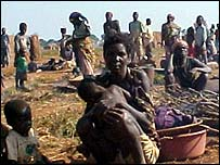 Destitute refugees in Angola