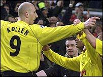 Borussia Dortmund striker Jan Koller