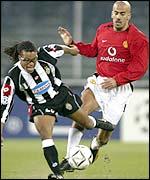 Juan Sebastian Veron was outstanding for Manchester United
