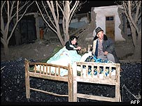 Homeless locals bed down outside their wrecked home