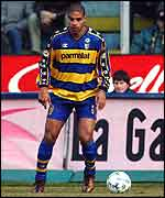 Adriano in action for Parma recently