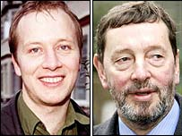 Paul Kenyon, left, used David Blunkett's identity
