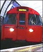 London Underground tube train