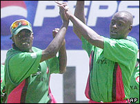 Kenya celebrate victory over Sri Lanka
