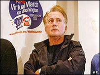 Anti-war activist Martin Sheen