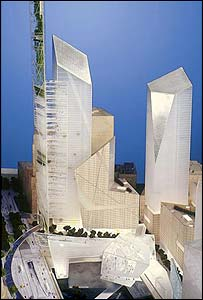 Daniel Libeskind's proposal for the World Trade Centre site