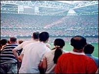 Fans at Millennium Stadium, Cardiff