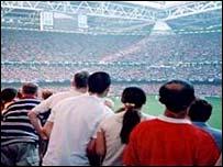 Fans at Millennium Stadium, Cardiff