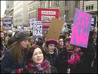 Anti-war demonstrations in London