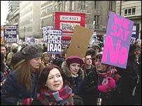 Anti-war demonstrations in London