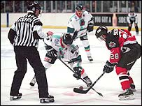 Sheffield Steelers in action against Cardiff Devils