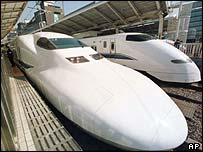 Japanese shinkansen