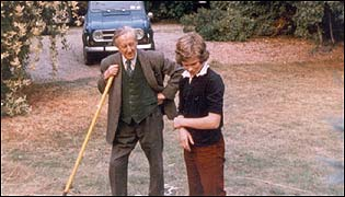 Simon Tolkien with his grandfather, the author JRR Tolkien