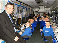 Children on the Manx Telecomputer Bus