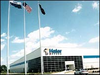 Haier's US plant in Canton, South Carolina