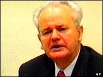 Former Yugoslav President Slobodan Milosevic