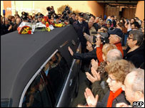 The funeral of Alberto Sordi