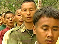 A group of young Naga rebels
