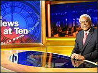 Sir Trevor McDonald presents News at Ten