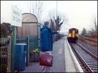 Newton St Cyres station in Devon
