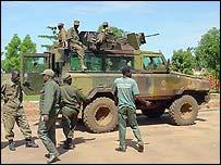 Ugandan soldiers in Kitgum