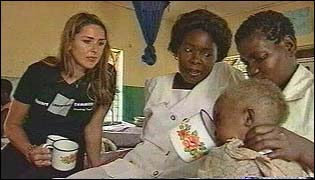 Claire Sweeney at Mchinji Children's Hospital in Malawi