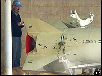 UN inspector and al-Samoud missile