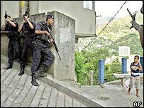 Military policemen in Rio street