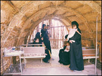 Clinic in traditional Marsh Arab reed building (Image: Amar Foundation)