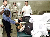 Wounded policemen