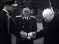 Duke of Edlinburgh, Marshal Tito, Winston Churcill - 1953
