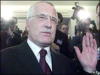 Vaclav Klaus before the election