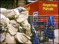 Royal Mail van and postbags