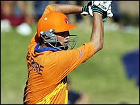 Holland skipper Roland Lefebvre hit 30 off 23 balls