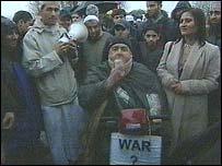 Protesters in Blackburn