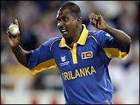 Pulasthi Gunaratne bowled the last over for Sri Lanka