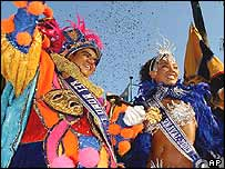 The Fat King, accompanied by the Carnival Queen, holds the symbolic key to the city