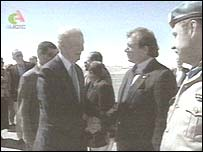 James Baker meeting Polisaro officials in Algeria