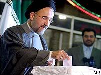 President Khatami votes