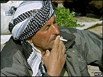 Iraqi Kurd smoker, northern Iraq