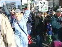 Demonstrators in Birmingham