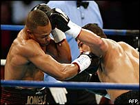 Roy Jones Jr in action against John Ruiz