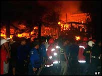 Bali bomb scene