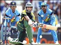 Saeed Anwar in action against India