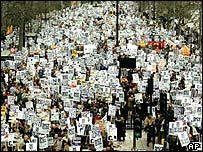Anti-war demonstration in London in February 2003
